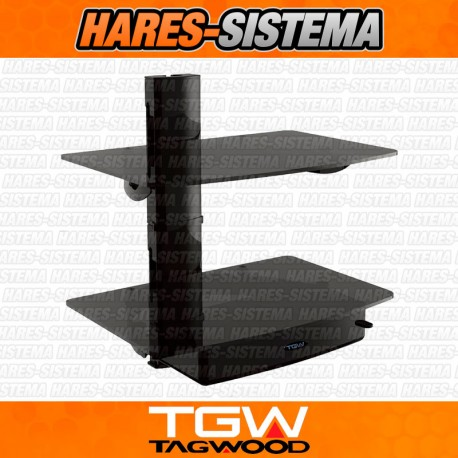 Soporte Doble Estante DVD Consolas Decodificadores TGW Tagwood
