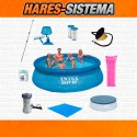 "Combo x 9pz Pileta Intex ""Easy Set""  3.66 x 91cms"