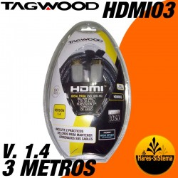 Cable HDMI Tagwood 3 metros V. 1.4 1080p Full HD