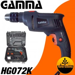 Kit Taladro Gamma HG072K 13mm Percutor
